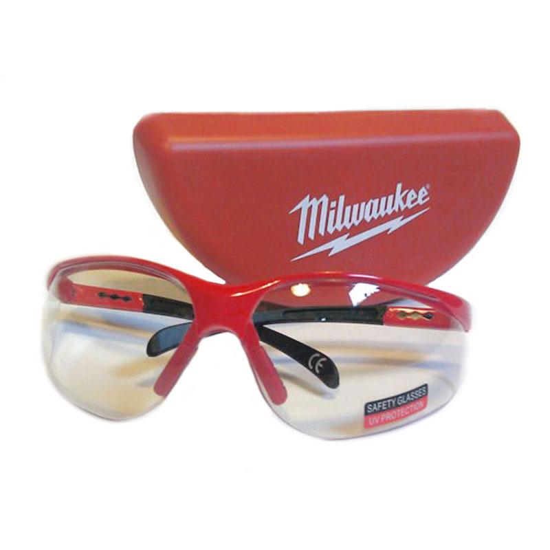 Защитные очки Milwaukee с регулируемыми дужками и защитой глаз от УФ + кейс  для хранения очков 445989cb28d